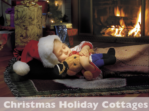 Christmas Log Fire Holiday Cottage